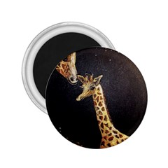 Baby Giraffe And Mom Under The Moon 2 25  Button Magnet