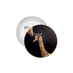 Baby Giraffe And Mom Under The Moon 1 75  Button