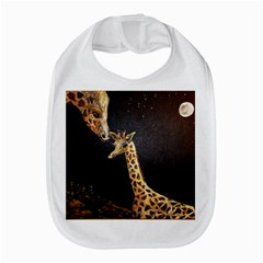 Baby Giraffe And Mom Under The Moon Bib