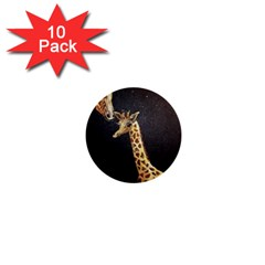 Baby Giraffe And Mom Under The Moon 1  Mini Button (10 pack)