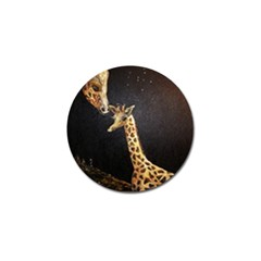 Baby Giraffe And Mom Under The Moon Golf Ball Marker 4 Pack