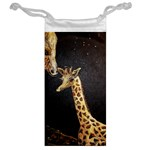 Baby Giraffe And Mom Under The Moon Jewelry Bag Back