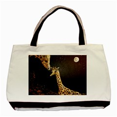 Baby Giraffe And Mom Under The Moon Classic Tote Bag
