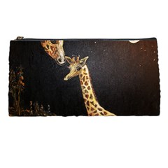 Baby Giraffe And Mom Under The Moon Pencil Case