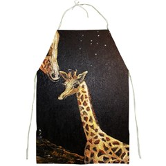 Baby Giraffe And Mom Under The Moon Apron