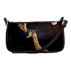 Baby Giraffe And Mom Under The Moon Evening Bag