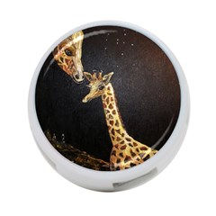 Baby Giraffe And Mom Under The Moon 4-Port USB Hub (Two Sides)