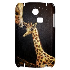 Baby Giraffe And Mom Under The Moon Samsung S3350 Hardshell Case