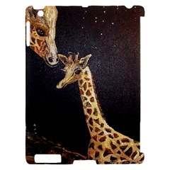 Baby Giraffe And Mom Under The Moon Apple iPad 2 Hardshell Case (Compatible with Smart Cover)