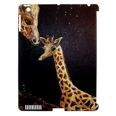 Baby Giraffe And Mom Under The Moon Apple iPad 3/4 Hardshell Case (Compatible with Smart Cover)