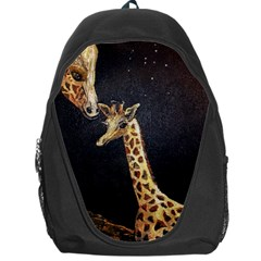 Baby Giraffe And Mom Under The Moon Backpack Bag
