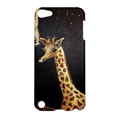 Baby Giraffe And Mom Under The Moon Apple Ipod Touch 5 Hardshell Case