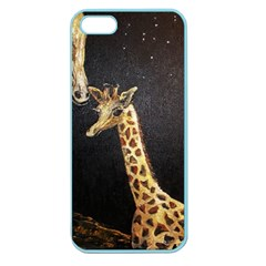 Baby Giraffe And Mom Under The Moon Apple Seamless iPhone 5 Case (Color)