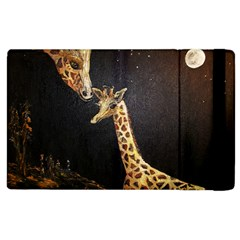 Baby Giraffe And Mom Under The Moon Apple Ipad 2 Flip Case