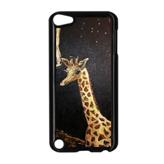 Baby Giraffe And Mom Under The Moon Apple iPod Touch 5 Case (Black)