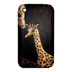 Baby Giraffe And Mom Under The Moon Apple iPhone 3G/3GS Hardshell Case (PC+Silicone)