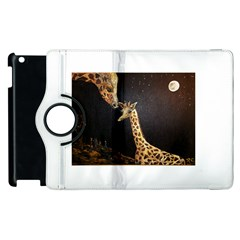 Baby Giraffe And Mom Under The Moon Apple iPad 2 Flip 360 Case