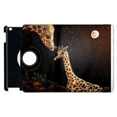 Baby Giraffe And Mom Under The Moon Apple iPad 3/4 Flip 360 Case