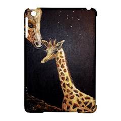 Baby Giraffe And Mom Under The Moon Apple iPad Mini Hardshell Case (Compatible with Smart Cover)
