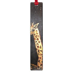 Baby Giraffe And Mom Under The Moon Large Bookmark
