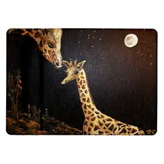 Baby Giraffe And Mom Under The Moon Samsung Galaxy Tab 10.1  P7500 Flip Case