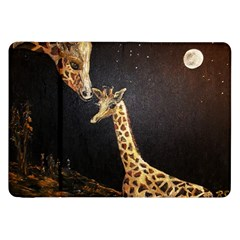 Baby Giraffe And Mom Under The Moon Samsung Galaxy Tab 8.9  P7300 Flip Case