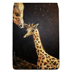 Baby Giraffe And Mom Under The Moon Removable Flap Cover (Large)
