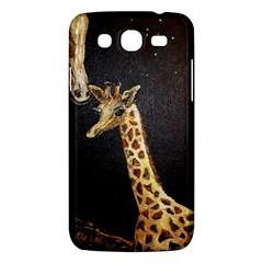 Baby Giraffe And Mom Under The Moon Samsung Galaxy Mega 5.8 I9152 Hardshell Case