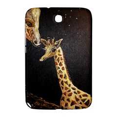 Baby Giraffe And Mom Under The Moon Samsung Galaxy Note 8.0 N5100 Hardshell Case