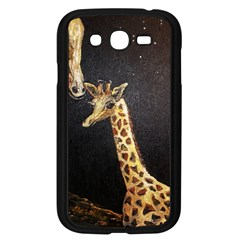 Baby Giraffe And Mom Under The Moon Samsung Galaxy Grand DUOS I9082 Case (Black)