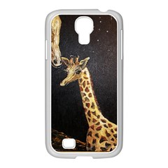 Baby Giraffe And Mom Under The Moon Samsung GALAXY S4 I9500/ I9505 Case (White)