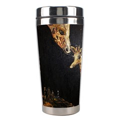 Baby Giraffe And Mom Under The Moon Stainless Steel Travel Tumbler