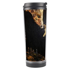 Baby Giraffe And Mom Under The Moon Travel Tumbler