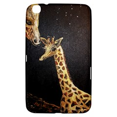 Baby Giraffe And Mom Under The Moon Samsung Galaxy Tab 3 (8 ) T3100 Hardshell Case