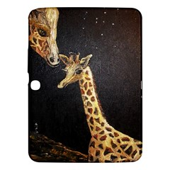 Baby Giraffe And Mom Under The Moon Samsung Galaxy Tab 3 (10.1 ) P5200 Hardshell Case