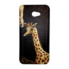 Baby Giraffe And Mom Under The Moon HTC Butterfly S Hardshell Case