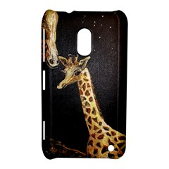 Baby Giraffe And Mom Under The Moon Nokia Lumia 620 Hardshell Case