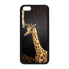Baby Giraffe And Mom Under The Moon Apple iPhone 5C Seamless Case (Black)
