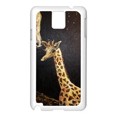 Baby Giraffe And Mom Under The Moon Samsung Galaxy Note 3 N9005 Case (white)