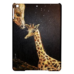 Baby Giraffe And Mom Under The Moon Apple Ipad Air Hardshell Case