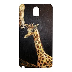 Baby Giraffe And Mom Under The Moon Samsung Galaxy Note 3 N9005 Hardshell Back Case