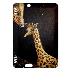Baby Giraffe And Mom Under The Moon Kindle Fire Hdx 7  Hardshell Case