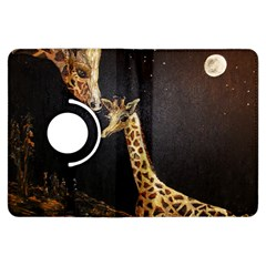 Baby Giraffe And Mom Under The Moon Kindle Fire HDX 7  Flip 360 Case