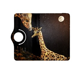 Baby Giraffe And Mom Under The Moon Kindle Fire HDX 8.9  Flip 360 Case