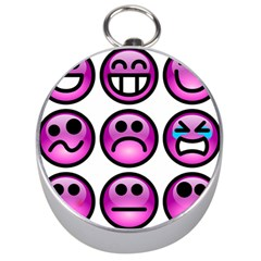 Chronic Pain Emoticons Silver Compass