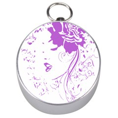 Purple Woman of Chronic Pain Silver Compass