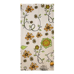 Yellow Whimsical Flowers Shower Curtain 36  x 72  (Stall)