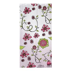Pink Whimsical Flowers On Pink Shower Curtain 36  X 72  (stall)