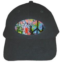 Prague Graffiti Black Baseball Cap