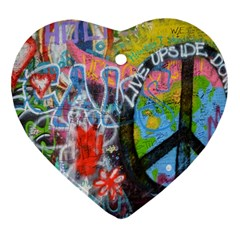Prague Graffiti Heart Ornament